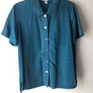 Button up collared t- shirt
